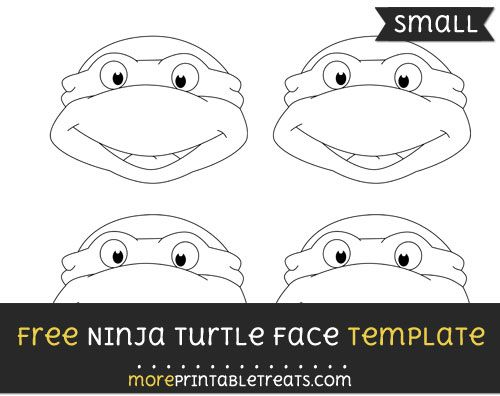 Free Ninja Turtle Face Template - Small Shapes and Templates - face template printable