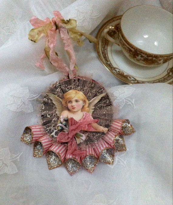 Clearance, Sale, Reduced, Victorian Cone Ornament