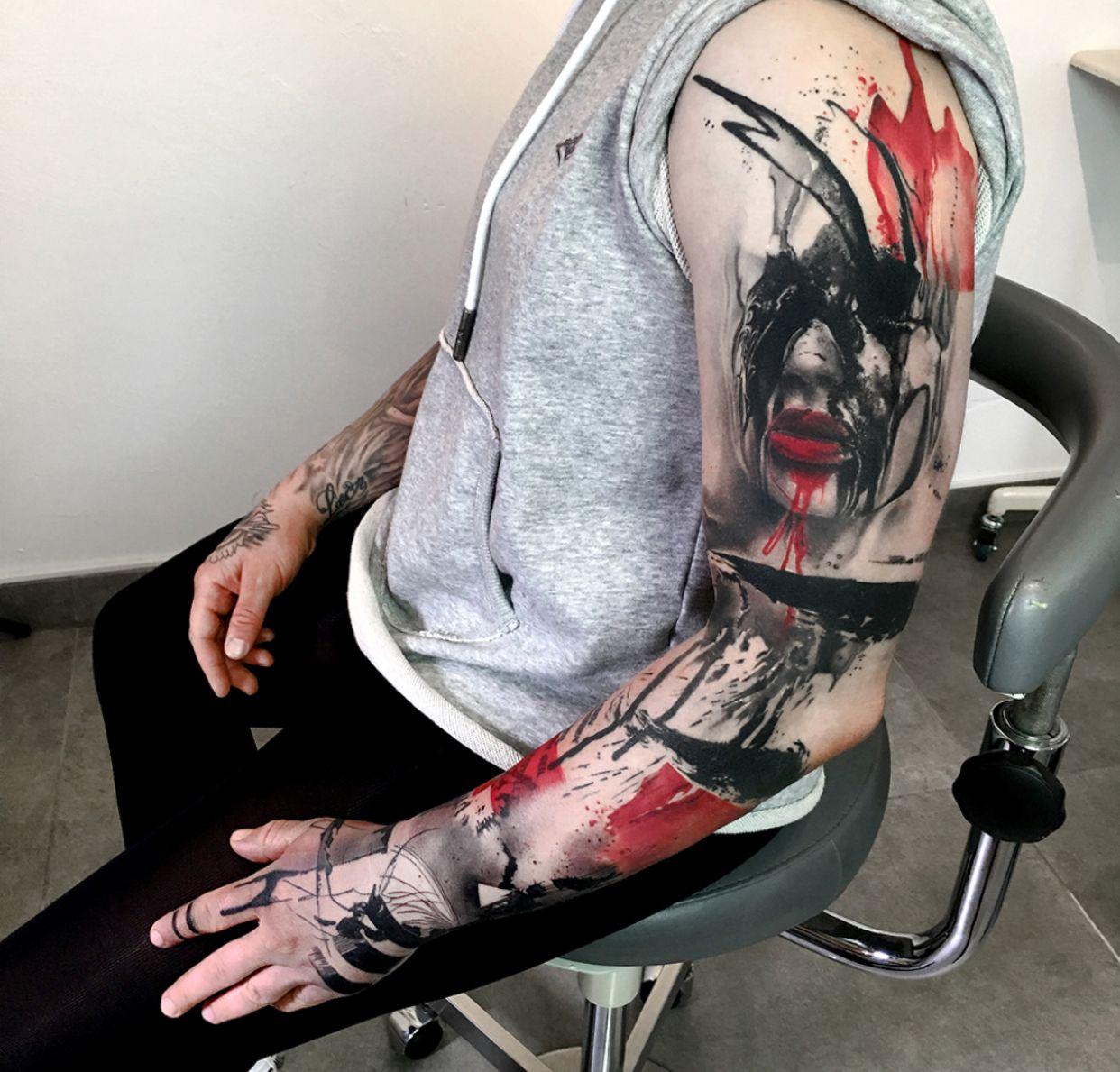 Trash Polka Skull By Mcrdesign On Deviantart: Tattoos, Trash Polka Tattoo, Trash