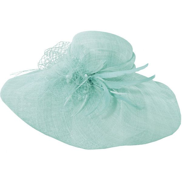 Scala™ Veil and Feathers Sinamay Hat (824.670 IDR) ❤ liked on Polyvore featuring accessories, hats, feather hat, church hats, scala hats and straw hats