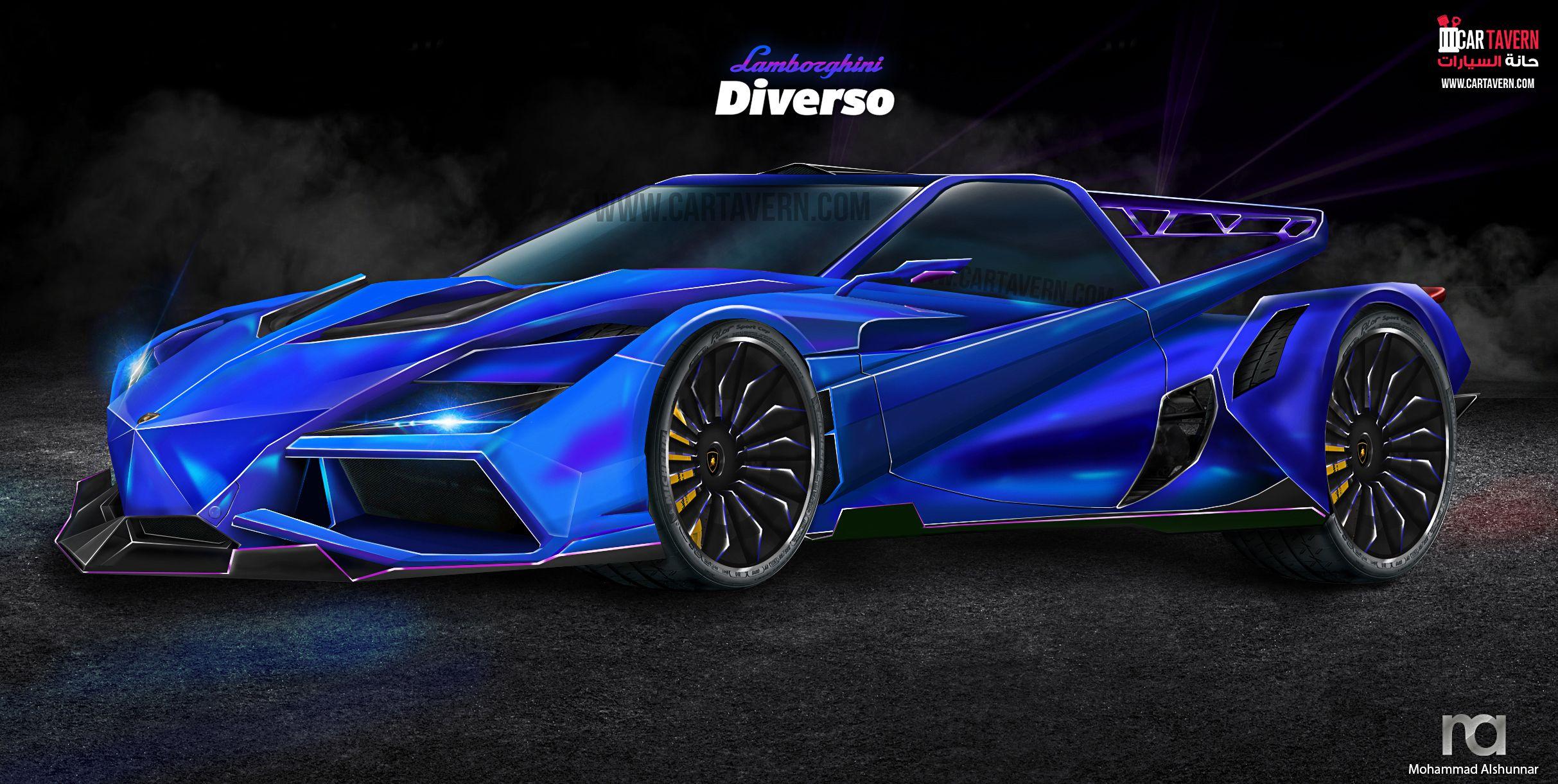 The Lamborghini Diverso Concept Car Tavern Future Mega Car Concept Cars Lamborghini Latest Cars
