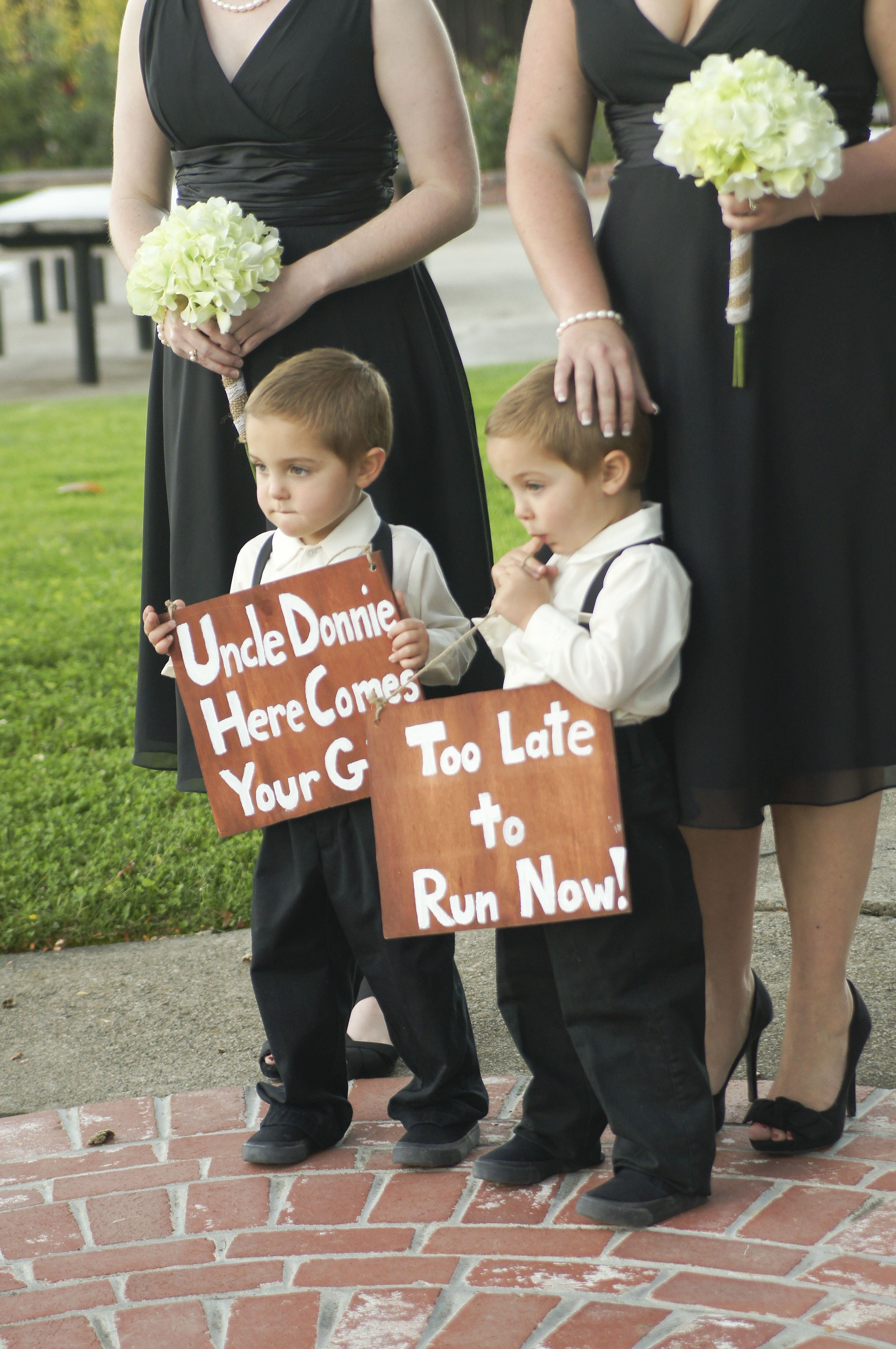 Diy Ring Bearer Signs Uncle Donnie Here Comes Your And