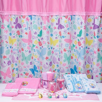 Disney Princess Butterfly Shower Curtain Collection Kids