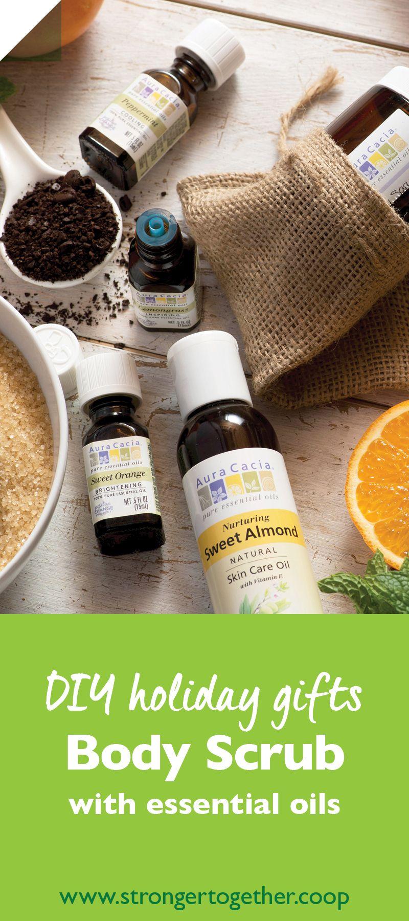 DIY Body Scrub with Essential Oils Diy body scrub, Body