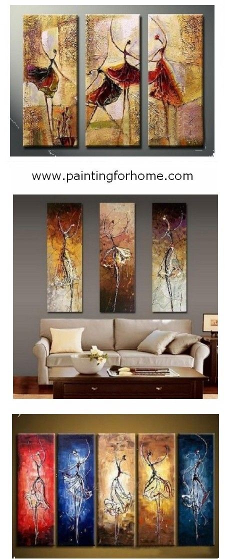 Bedroom Wall Art, Canvas Painting, Ballet Dancer Painting, Abstract