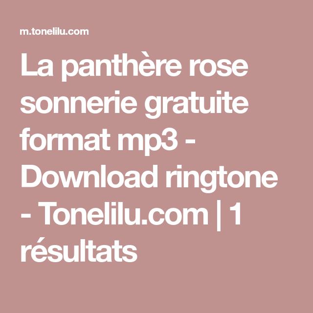 sonnerie pink panther gratuit