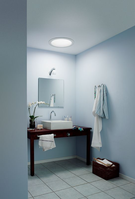 Lighten Up Softly Illuminate Even The Darkest Powder Room With The Beauty Of Natural Light This Economical Solution Combine Tubular Skylights Velux Skylight