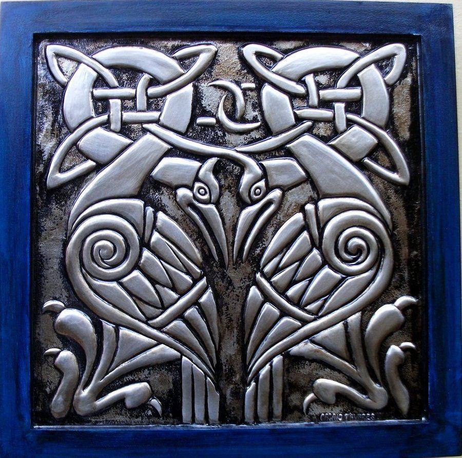 Celtic Bird Collection By Cacaiotavares On Deviantart Celtic Celtic Dragon Pewter Art
