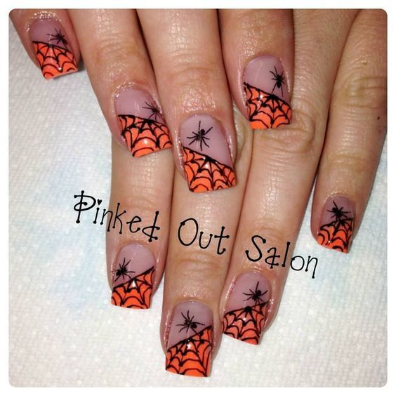 57 Easy Halloween Nail Art With Ghost Pumpkin Candy Corn ...