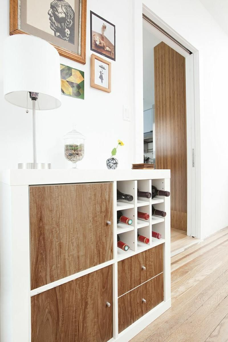 wein regal und flur schrank in einem haus pinterest ikea hack hallway closet and ikea expedit. Black Bedroom Furniture Sets. Home Design Ideas