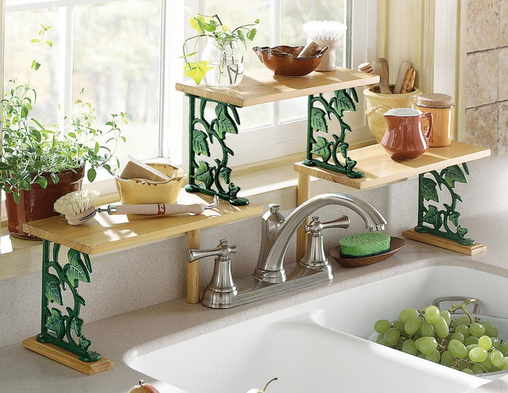 deal of the day ivy over the sink kitchen shelf 10 17 sink shelf shelves kitchen decor on kitchen decor over sink id=60252