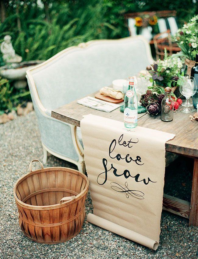Wedding Inspiration let love grow - rustic weddinglet love grow - rustic wedding