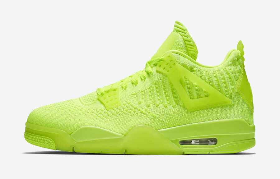 Nike Air Jordan 4 Retro Flyknit Volt Size 10 5 Us Mens Athletic