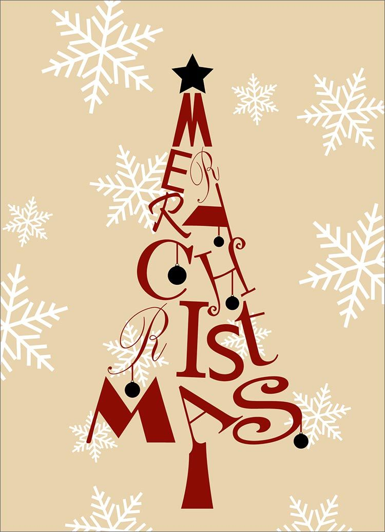 Christmas Tree Letters | DESIGN | Cards | Pinterest | Christmas ...