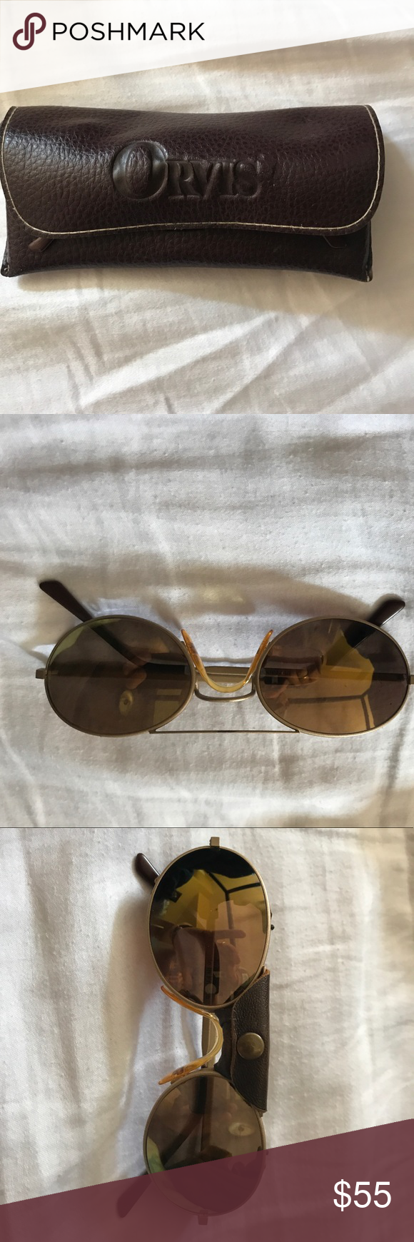 d002625d84 Orvis Polarized Flyfishing sunglasses Excellent condition. Comes with  removable leather side shields and nose shield. Very expensive shades when  they were ...