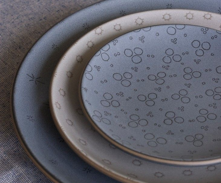 Indigo Stitch Etched Dinner Plate - Decorate - Heath Ceramics & Indigo Stitch Etched Dinner Plate | Heath ceramics and Tableware