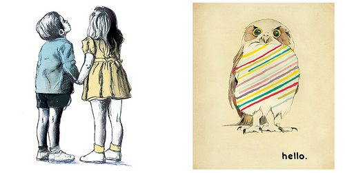 Lovely illustrations by Australian Karen Zerefos- delicate lines and beautiful colors!