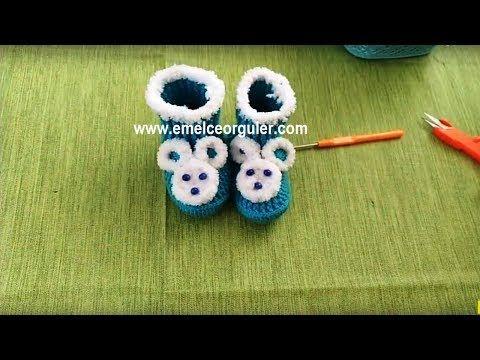 Panda Bot Bebek Patik Modeli Yapılışı Videolu Anlatımlı