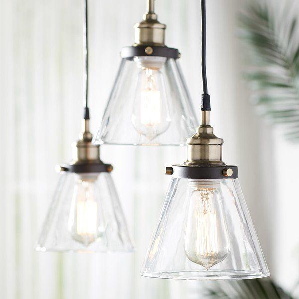 Luminaire suspendu conique à 3 lumières Abelia