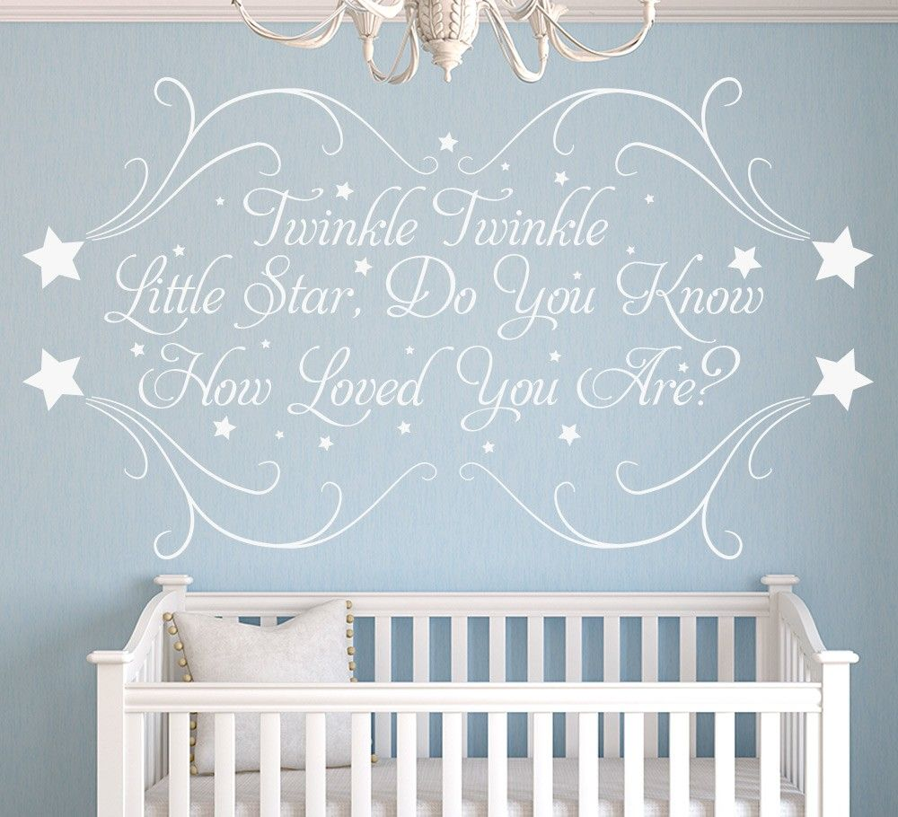 Twinkle little star personalised nursery wall sticker baby v twinkle little star personalised nursery wall sticker amipublicfo Choice Image