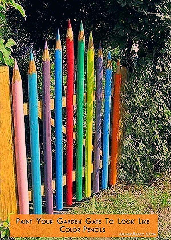34 einfache und preiswerte DIY-Ideen, um den Garten und Hof zu verschönern