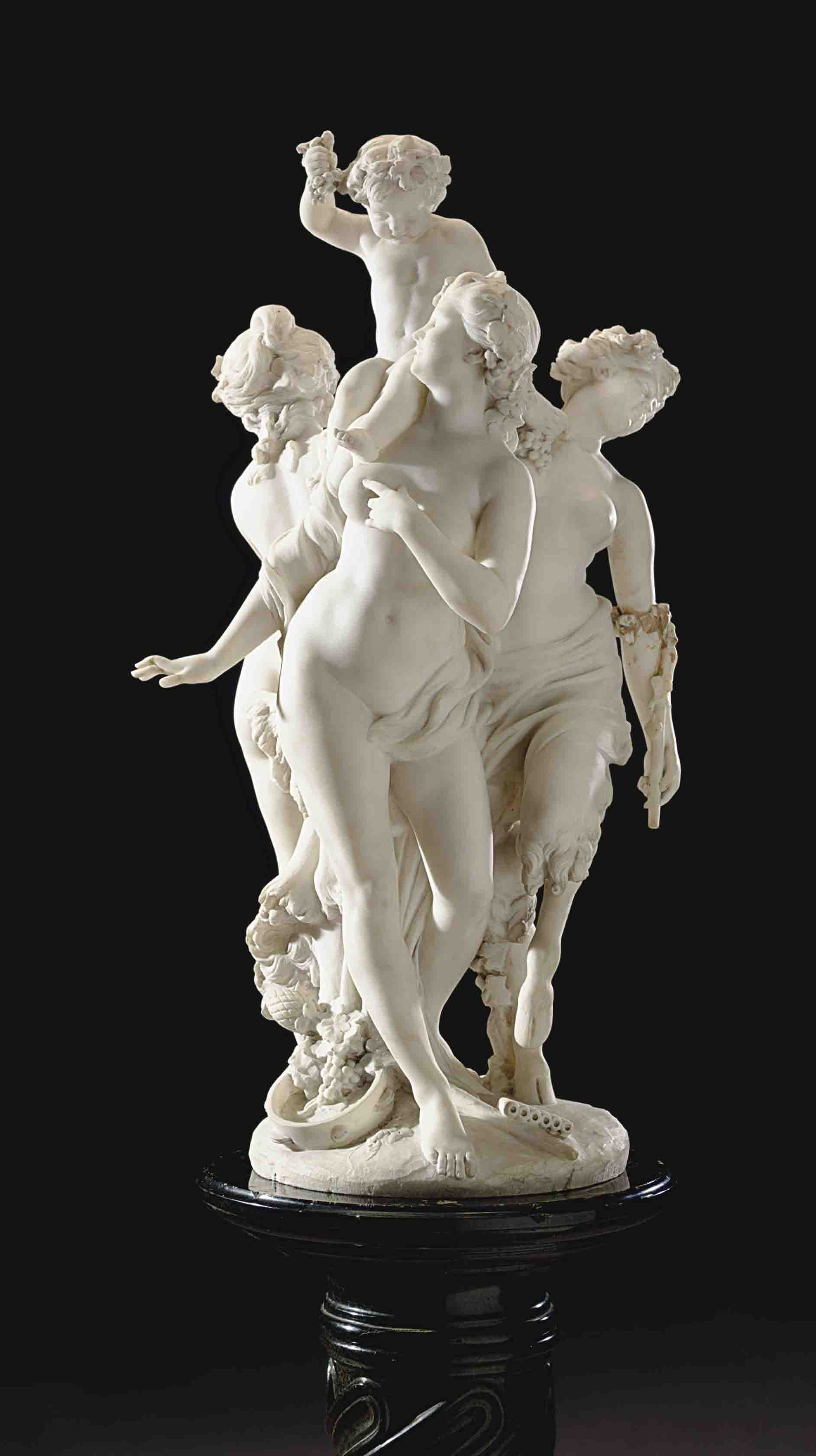 An Italian Marble Bacchanalia Group By Domenico Bacci Late 19th Early 20th Century Sculptures Statues F Sculpture Art Horse Sculpture Italian Sculpture