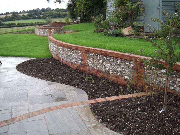 Image result for sussex garden flint wall construction ...