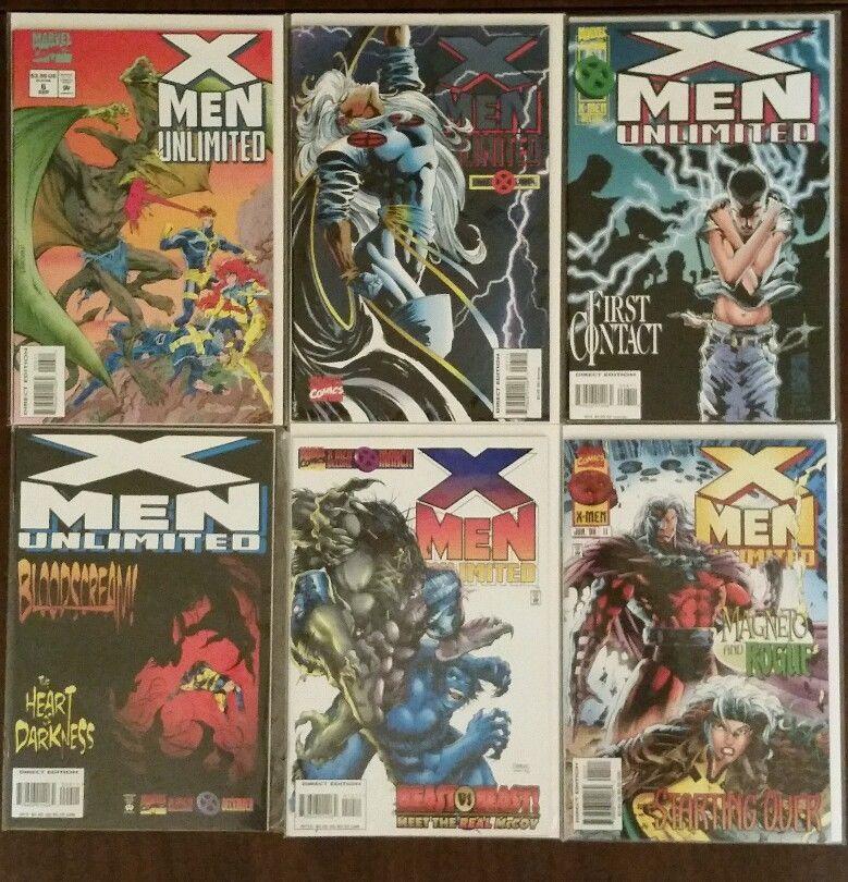Marvel Comics X Men Unlimited Vol 1 6 11 Comics Marvel Comics X Men