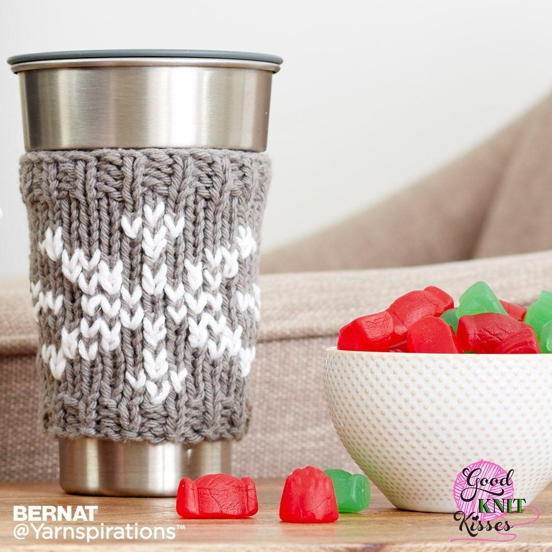 Knit Snowflake Mug Hug by Good Knit Kisses | Free Pattern ...