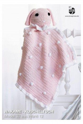 Häkelanleitung: süßes Kuscheltuch für Babys häkeln / free crochet ...