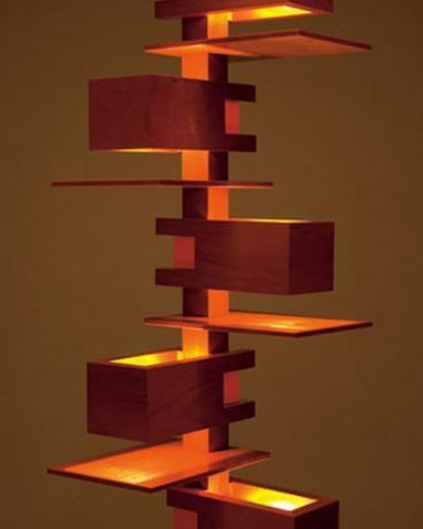 Frank Lloyd Wright Mini Taliesin lll Lamp | Maclin Studio | arts ...