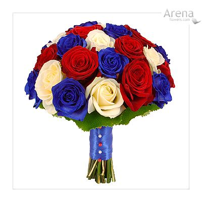 Find This Pin And More On My Wedding Ideas 3 8 10 13 Bespoke Red White Blue Bouquet