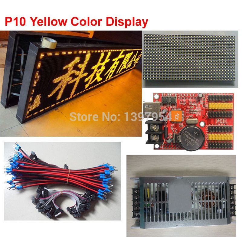 Find More LED Displays Information about free shipping DIY LED moving sign 20pcs P10 outdoor yellow color LED module 320*160mm for outdoor waterproof  led display,High Quality led video module,China led screen module Suppliers, Cheap modul sky from EVERTE LED Display on Aliexpress.com