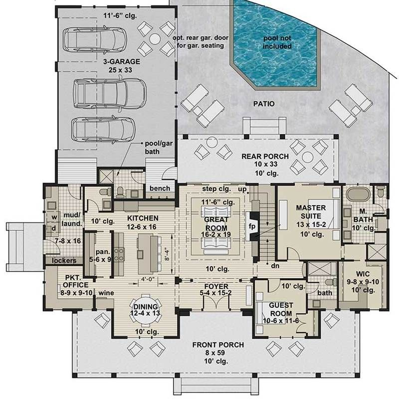 Silverbell Ranch House Plan   Modern Farmhouse   Two-Story ... on ranch style homes, townhouse plans, log cabin plans, strip mall plans, summer cottage plans, ranch art, ranch luxury homes, 3 car garage plans, ranch backyard, ranch log homes, ranch modular homes, floor plans,