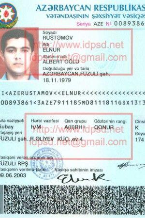 Template Azerbaijan Passport Psd Www Idpsd Net Foto Inspirasjon Foto