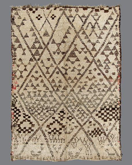 vintage moroccan rug beni ouarain bo102 applied art pattern pinterest design living. Black Bedroom Furniture Sets. Home Design Ideas