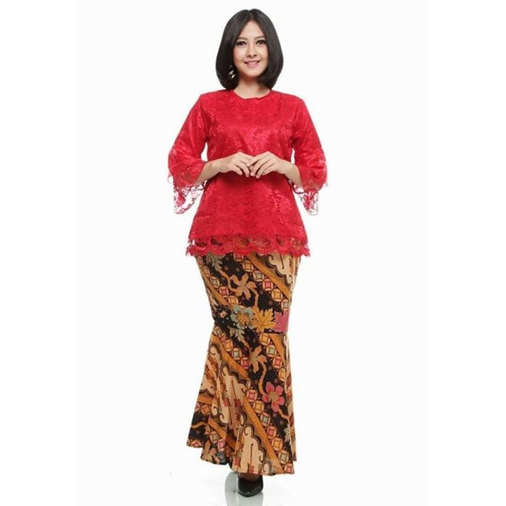 Woman Outfits Kebaya Polo Shirts Female Costumes Woman Clothing