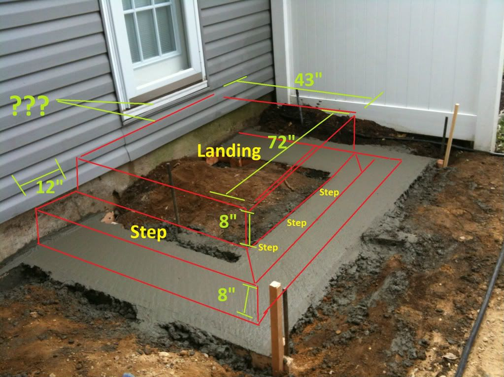 Height Difference From Exterior Threshold To Landing Steps Landing Pinterest Brick Steps