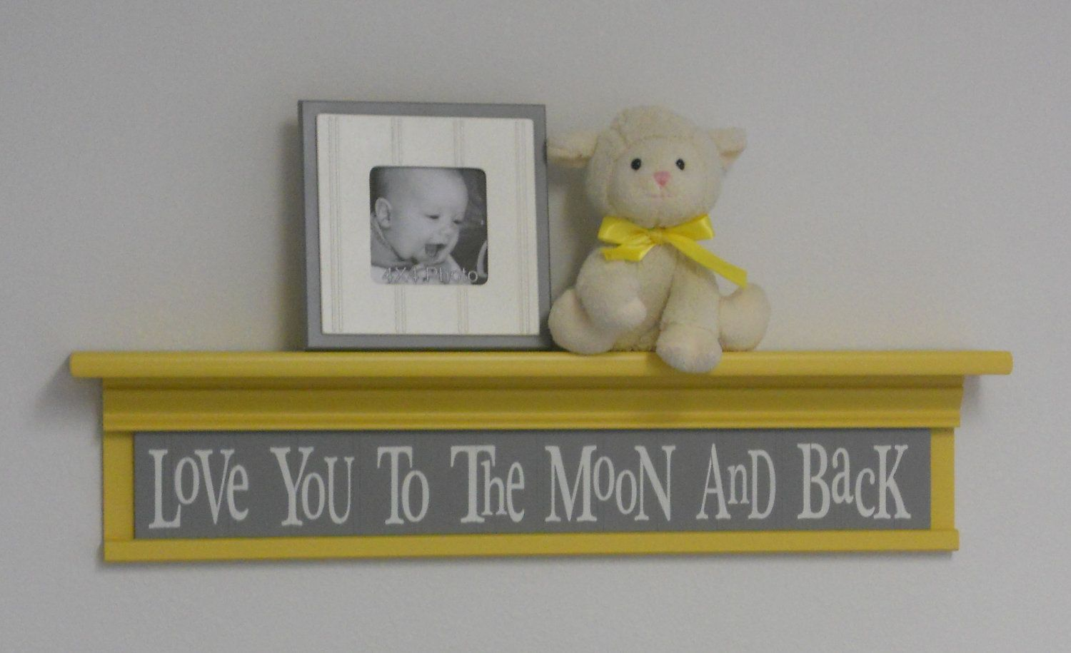 Yellow and Grey Baby Nursery Decor - Baby Wall Decor Gray Yellow ...