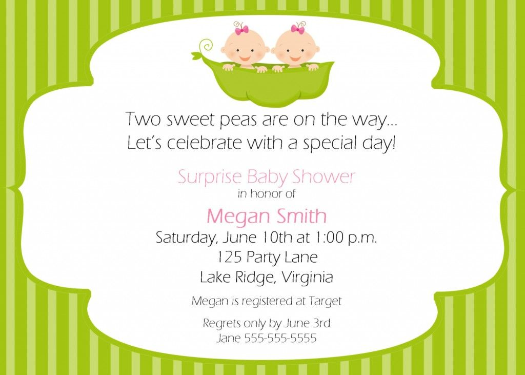 Two Peas In A Pod Baby Shower Invitation Templates | baby shower ...