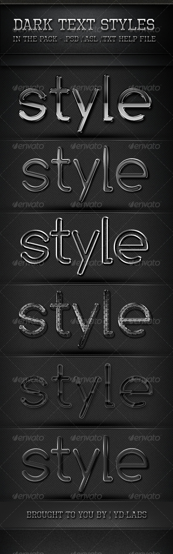 Dark Text Styles Text Style Style Photoshop Styles
