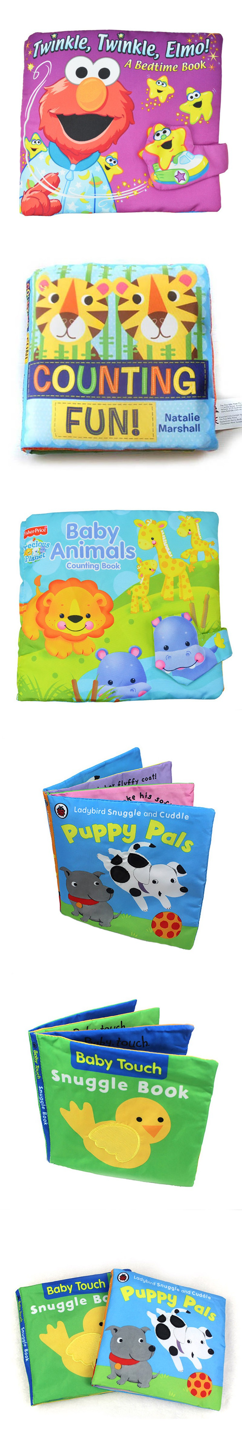 1Pcs Activity Book Quiet Book English Language Fabric Cloth Baby