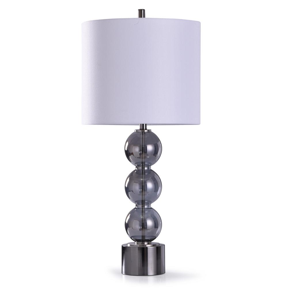 Stylish Segmenting Makes This Modern Table Lamp An Exceptional Piece Of Decor For Offices Foyers And Dining Roo In 2020 Silver Table Lamps Table Lamp Steel Lamp Shade