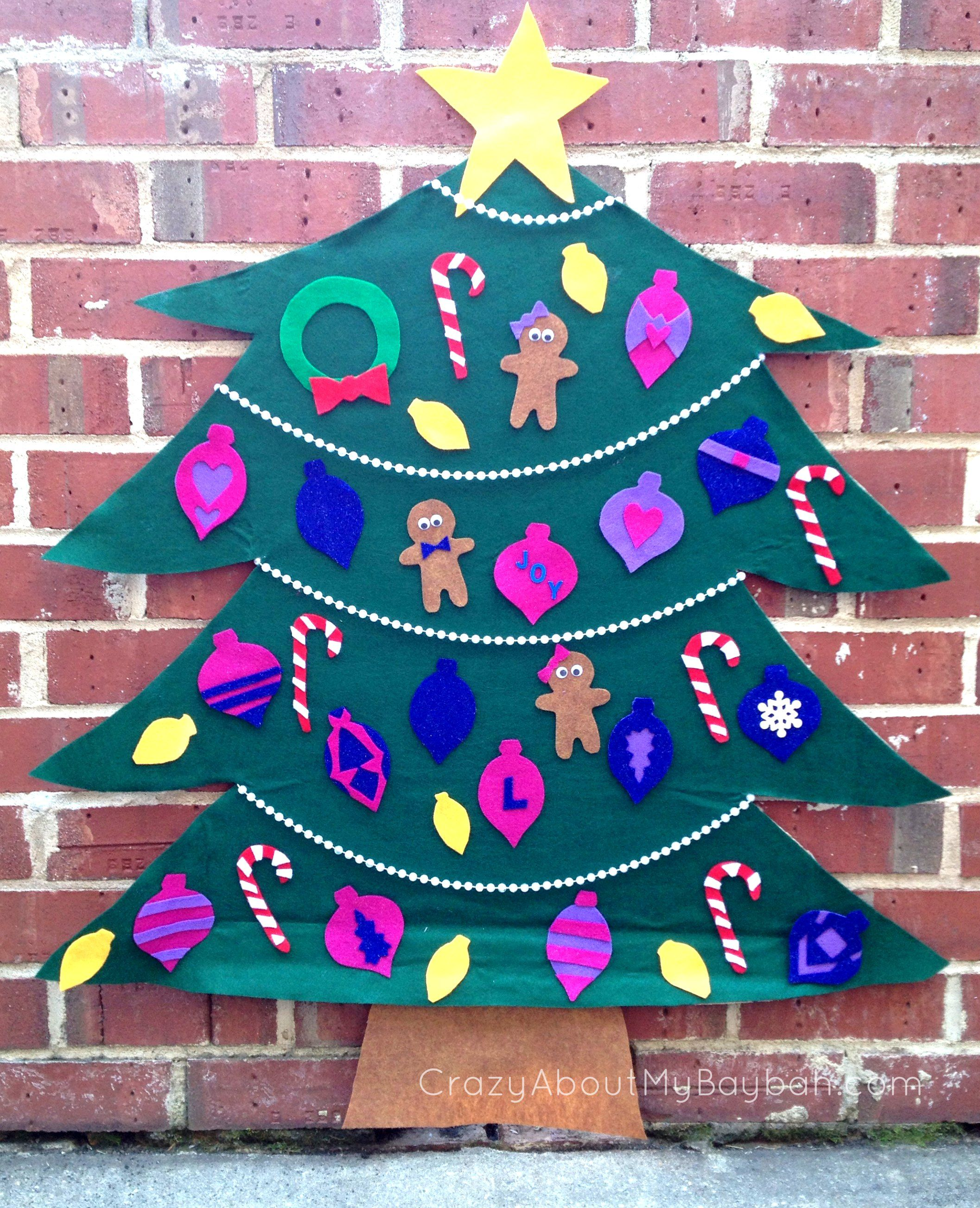 diy felt christmas tree 25 winter and christmas crafts for kids toddlers preschoolers