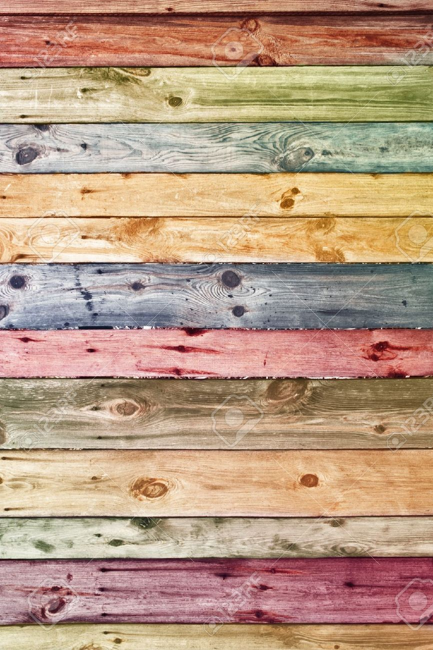 vintage wooden planks wall background  Stock Photo