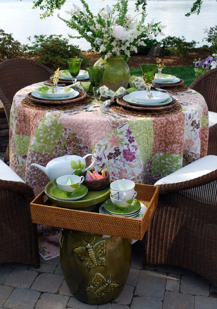 Daylight Dinnerware Alfresco Table Settings Outdoor Dining