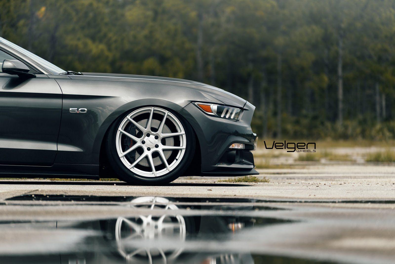 Bagged 2015 Mustang GT on Velgen Wheels Inspiration