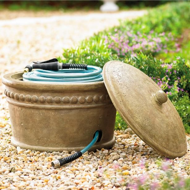 Etonnant Our Beaded Stonecast Hose Pot Is So Attractive No One Would Ever Suspect  Its Real Purpose. This Hose Pot Is Crafted From Stonecast, With The Look Of  Natural ...