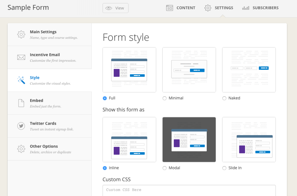 Styling Your Forms Pop Up Modal And Sliders Twitter Cards Content Upgrade Business Emails