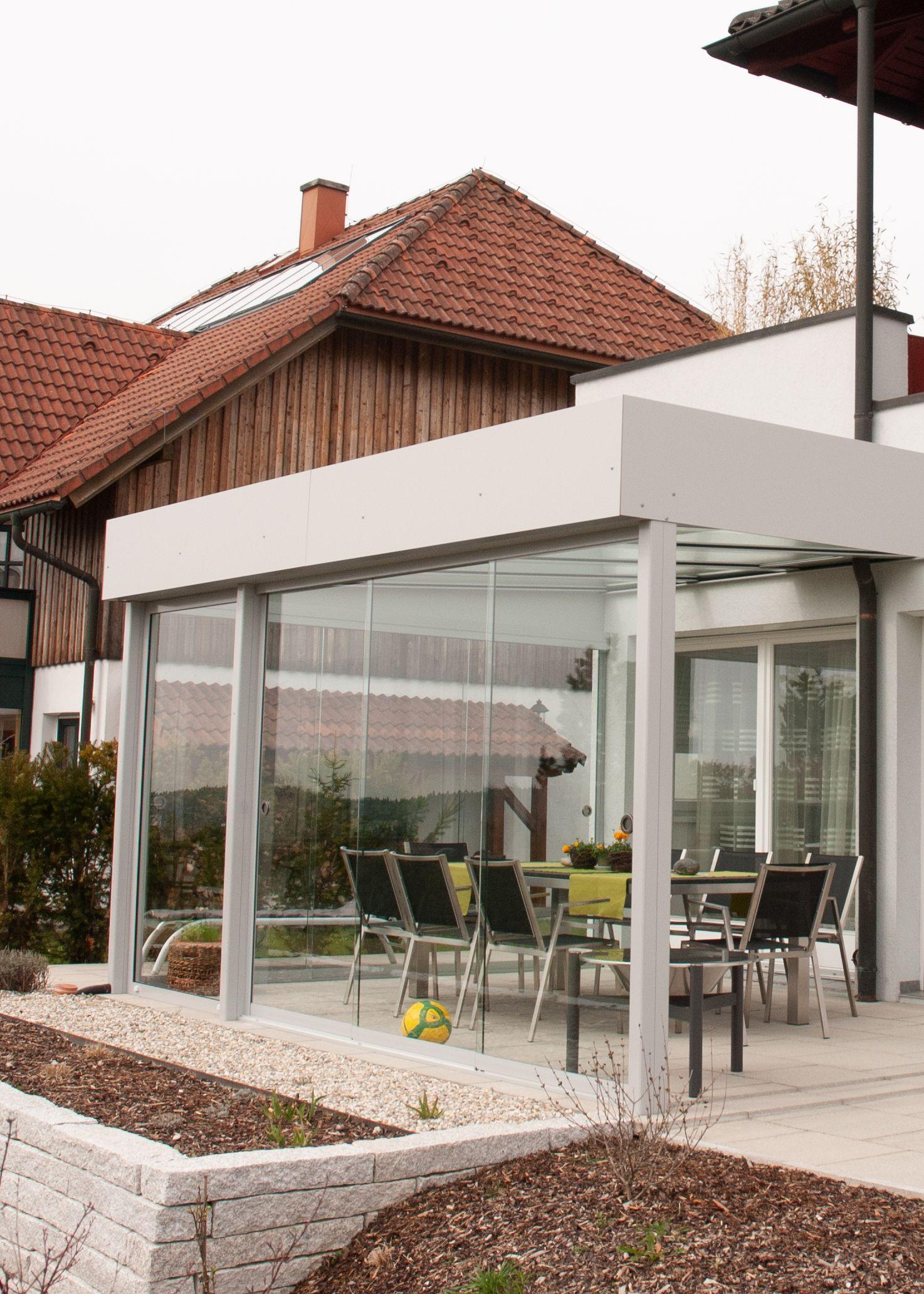 Terrassenuberdachung Sunflex Schiebeturen Verglasungen Balkon